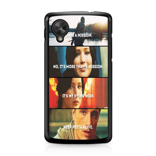 The Hunger Games Quotes Mockingjay Google Nexus 5 case