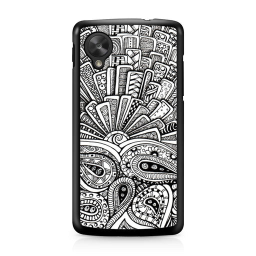 Zentangle Monogram Google Nexus 5 case