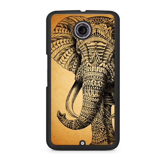 Zentangle Elephant Google Nexus 6 case
