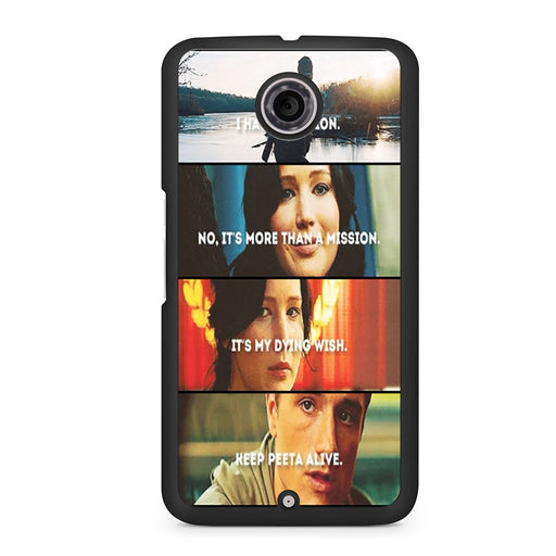 The Hunger Games Quotes Mockingjay Google Nexus 6 case
