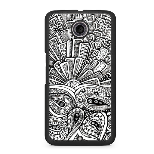 Zentangle Monogram Google Nexus 6 case