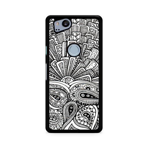 Zentangle Monogram Google Pixel 2/Pixel 2 XL case