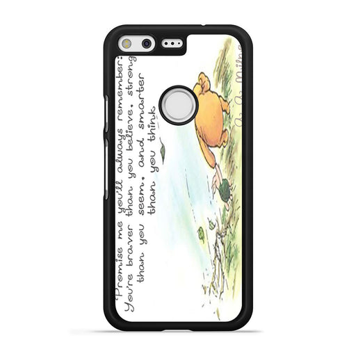 Winnie the Pooh Quote Google Pixel case