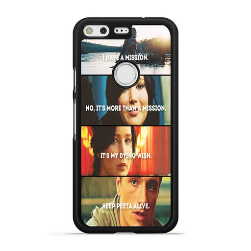 The Hunger Games Quotes Mockingjay Google Pixel case