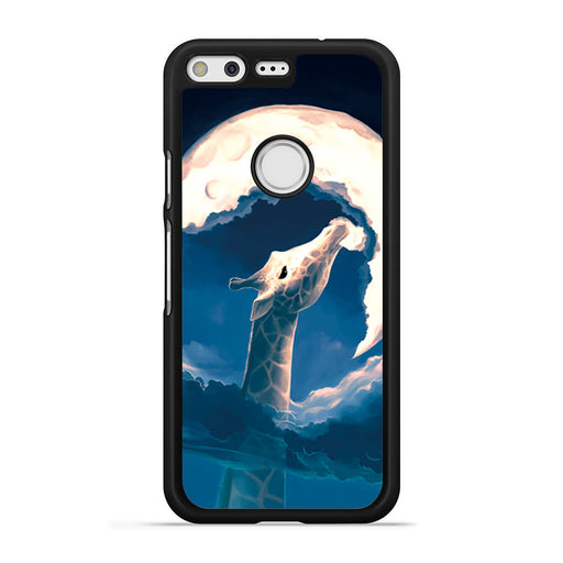 Giraffe Eat the Moon Google Pixel case