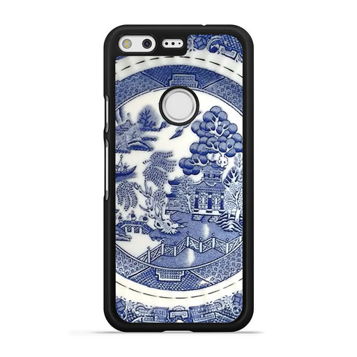 Blue Willow China Pattern Google Pixel case