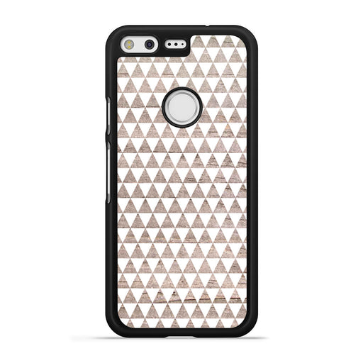 Wooden Triangle Geometric Pattern Google Pixel case