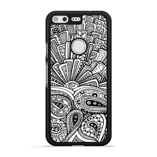 Zentangle Monogram Google Pixel case