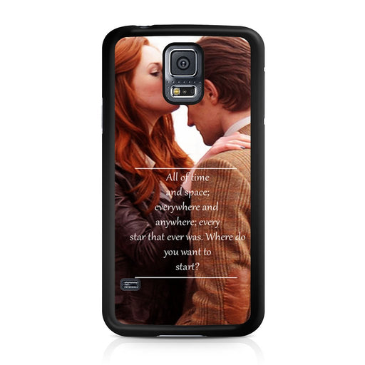 Eleventh Doctor Who Matt Smith Time And Space Quote Samsung Galaxy S5 case