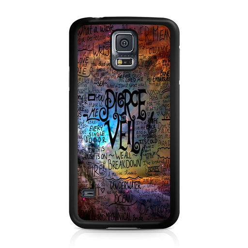 Pierce The Veil Lyric Logo Quote Galaxy Samsung Galaxy S5 case