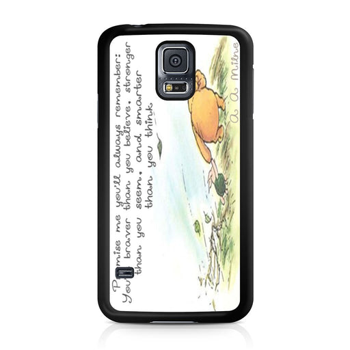 Winnie the Pooh Quote Samsung Galaxy S5 case