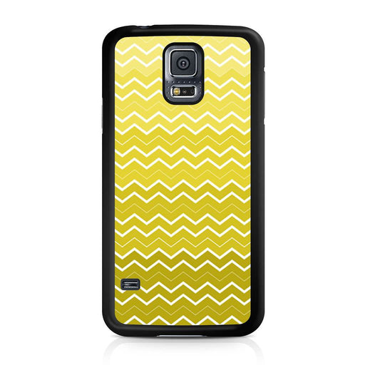 Yellow Chevron Pattern Samsung Galaxy S5 case
