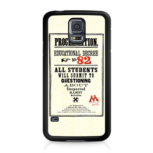 Harry Potter Proclamation Educational Decree No. 82 Samsung Galaxy S5 case