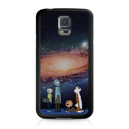 Rick Morty Calvin Hobbes Stargazing Samsung Galaxy S5 case