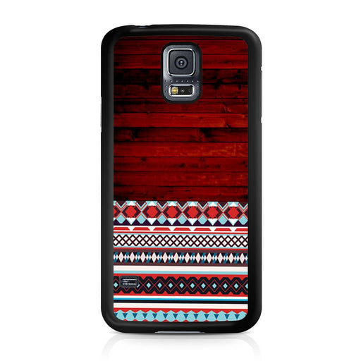 Wooden Aztec Pattern Samsung Galaxy S5 case