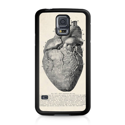 Vintage Medical Anatomical Heart Diagram Samsung Galaxy S5 case