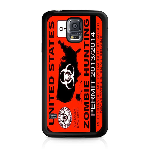 Zombie Hunting Permit Samsung Galaxy S5 case