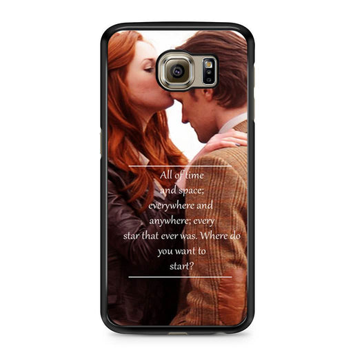 Eleventh Doctor Who Matt Smith Time And Space Quote Samsung Galaxy S6 case