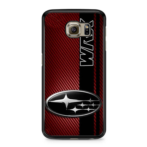Subaru WRX Logo On A Field Of Simulated Red Samsung Galaxy S6 case