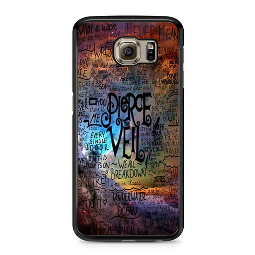 Pierce The Veil Lyric Logo Quote Galaxy Samsung Galaxy S6 case