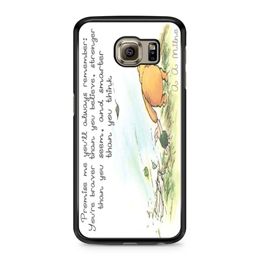 Winnie the Pooh Quote Samsung Galaxy S6 case