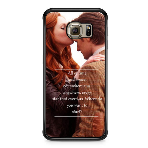 Eleventh Doctor Who Matt Smith Time And Space Quote Samsung Galaxy S6 Edge case