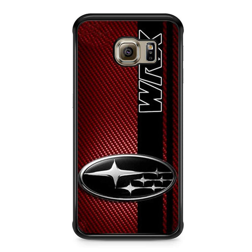 Subaru WRX Logo On A Field Of Simulated Red Samsung Galaxy S6 Edge case