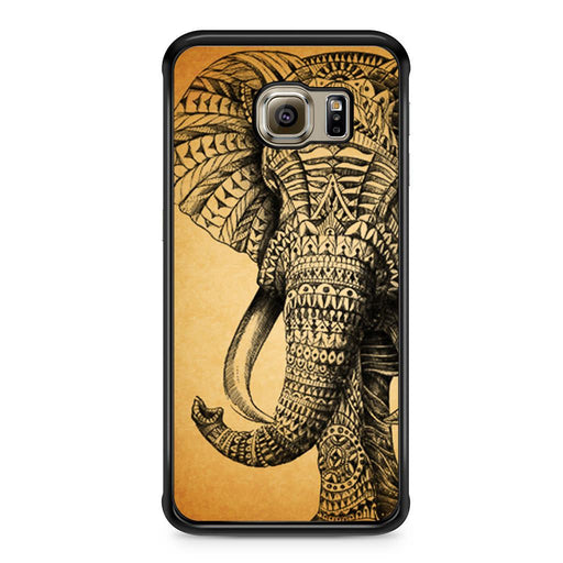 Zentangle Elephant Samsung Galaxy S6 Edge case