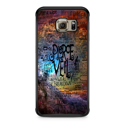 Pierce The Veil Lyric Logo Quote Galaxy Samsung Galaxy S6 Edge case