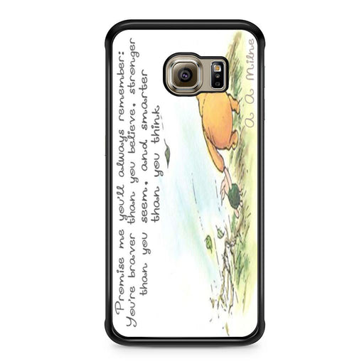 Winnie the Pooh Quote Samsung Galaxy S6 Edge case