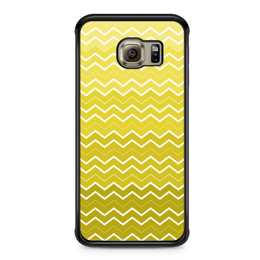 Yellow Chevron Pattern Samsung Galaxy S6 Edge case