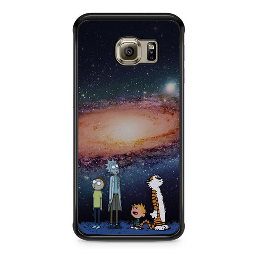 Rick Morty Calvin Hobbes Stargazing Samsung Galaxy S6 Edge case
