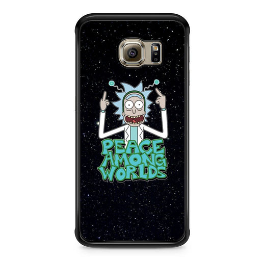 Rick Sanchez Morty Peace Among Worlds Samsung Galaxy S6 Edge case