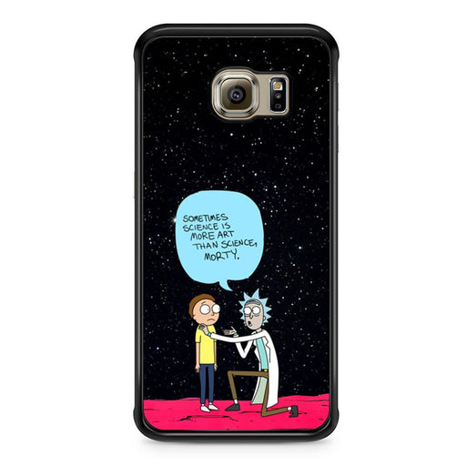 Rick and Morty Science Art Quote Samsung Galaxy S6 Edge case