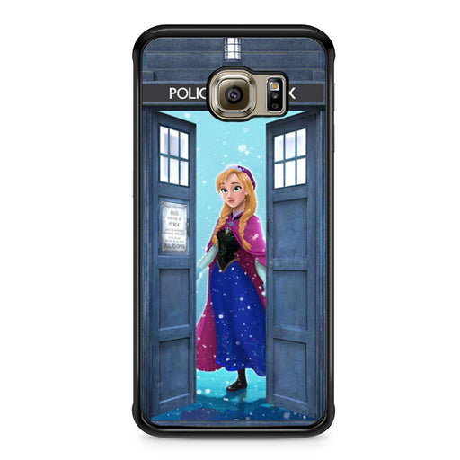 Tardis Disney Frozen Anna Samsung Galaxy S6 Edge case