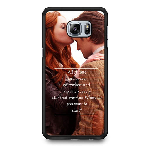 Eleventh Doctor Who Matt Smith Time And Space Quote Samsung Galaxy S6 Edge+ case