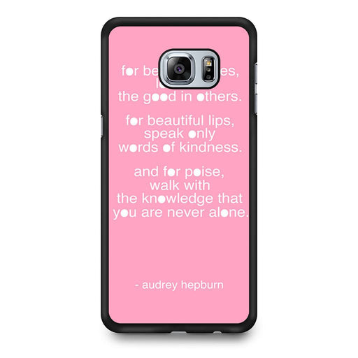 Audrey Hepburn Quote Pink Eye Samsung Galaxy S6 Edge+ case