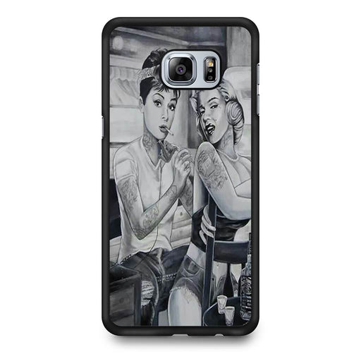 Audrey Hepburn and Marilyn Monroe Samsung Galaxy S6 Edge+ case