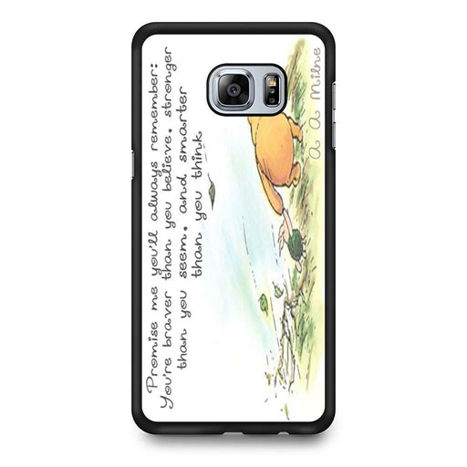 Winnie the Pooh Quote Samsung Galaxy S6 Edge+ case
