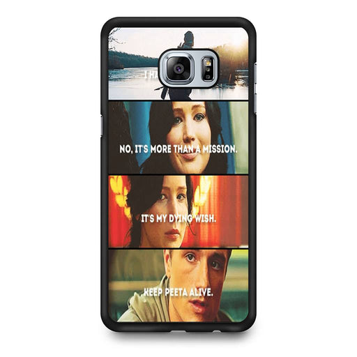 The Hunger Games Quotes Mockingjay Samsung Galaxy S6 Edge+ case
