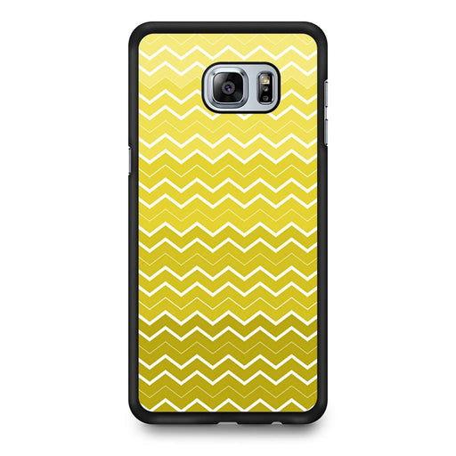 Yellow Chevron Pattern Samsung Galaxy S6 Edge+ case