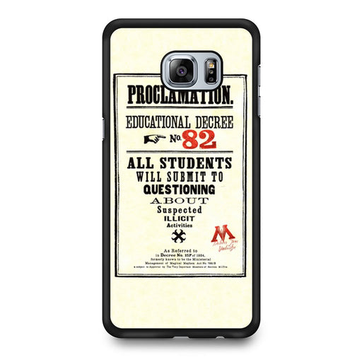Harry Potter Proclamation Educational Decree No. 82 Samsung Galaxy S6 Edge+ case