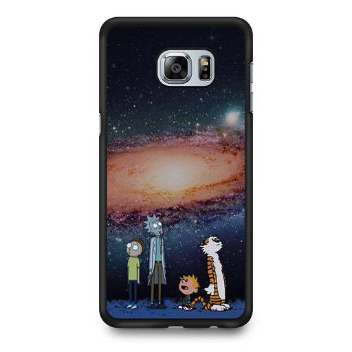 Rick Morty Calvin Hobbes Stargazing Samsung Galaxy S6 Edge+ case