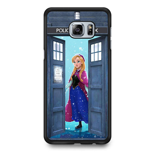 Tardis Disney Frozen Anna Samsung Galaxy S6 Edge+ case
