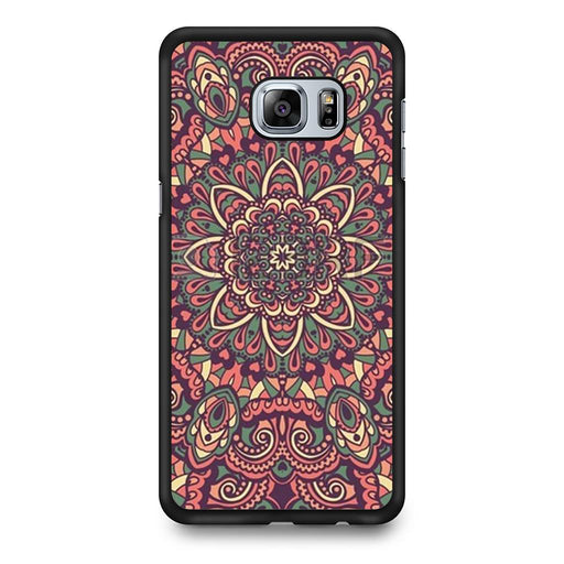 Seamless Mandala Flower Indian Bali Tribal Samsung Galaxy S6 Edge+ case