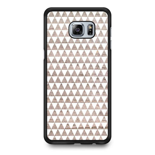 Wooden Triangle Geometric Pattern Samsung Galaxy S6 Edge+ case