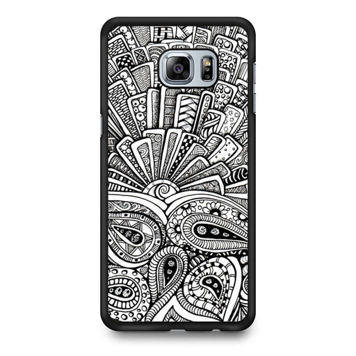 Zentangle Monogram Samsung Galaxy S6 Edge+ case