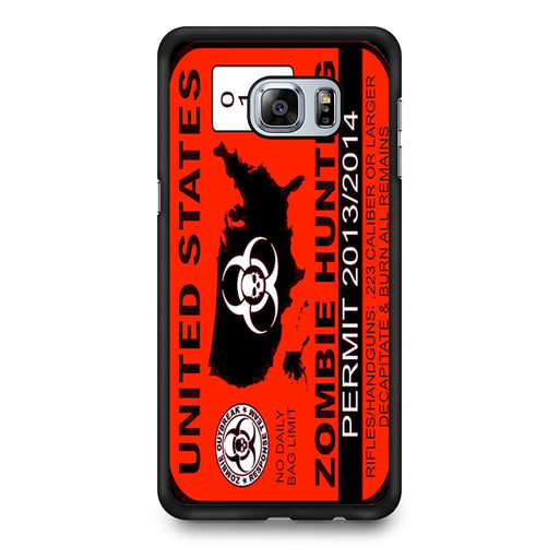 Zombie Hunting Permit Samsung Galaxy S6 Edge+ case