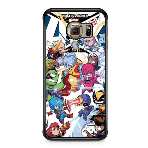 Young Marvel Avengers X-Men Babies Samsung Galaxy S6 Edge case