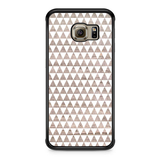 Wooden Triangle Geometric Pattern Samsung Galaxy S6 Edge case